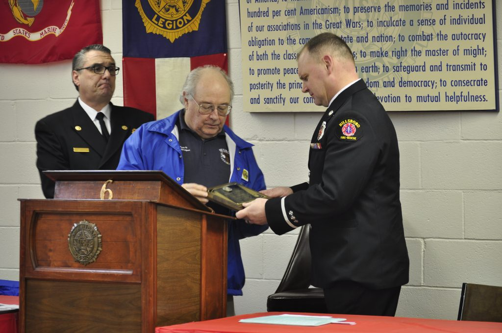 Hillsboro Post No. 6 American Legion - Fire Fighter of the Year - Lt. Chad Carey